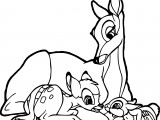 Bambi and his Mother Coloring Pages