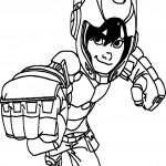 Big hero 6 characters hiro hamada kick coloring page