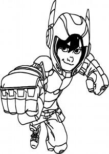 Big hero 6 characters hiro hamada kick coloring page