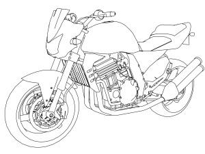 bikes kawasaki z1000 motorcycle coloring pages