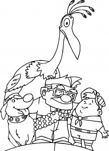 disney pixar up family coloring pages