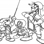 disney the three musketeers mickey mouse donald duck and goofy coloring pages