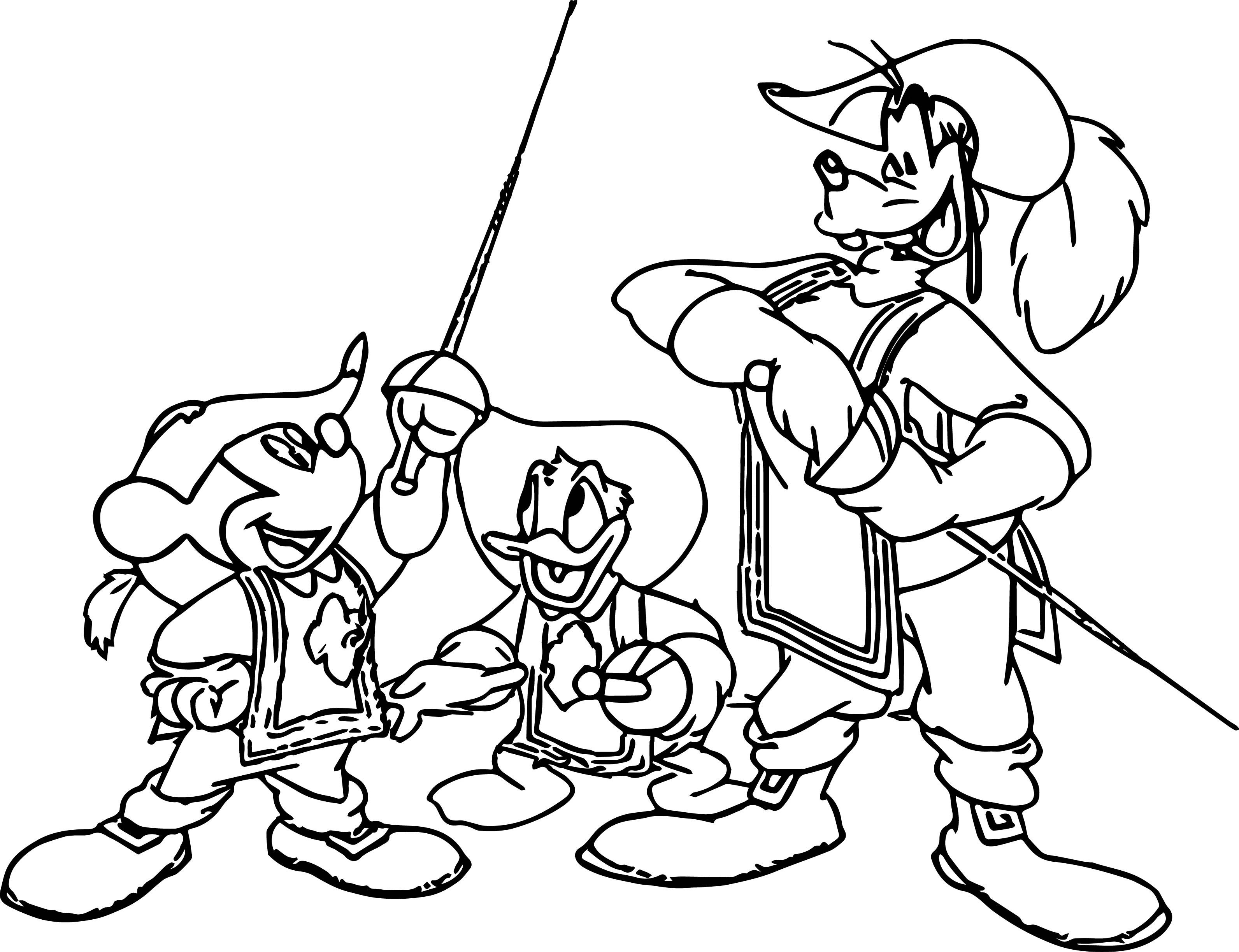 disney the three musketeers coloring pages wecoloringpage