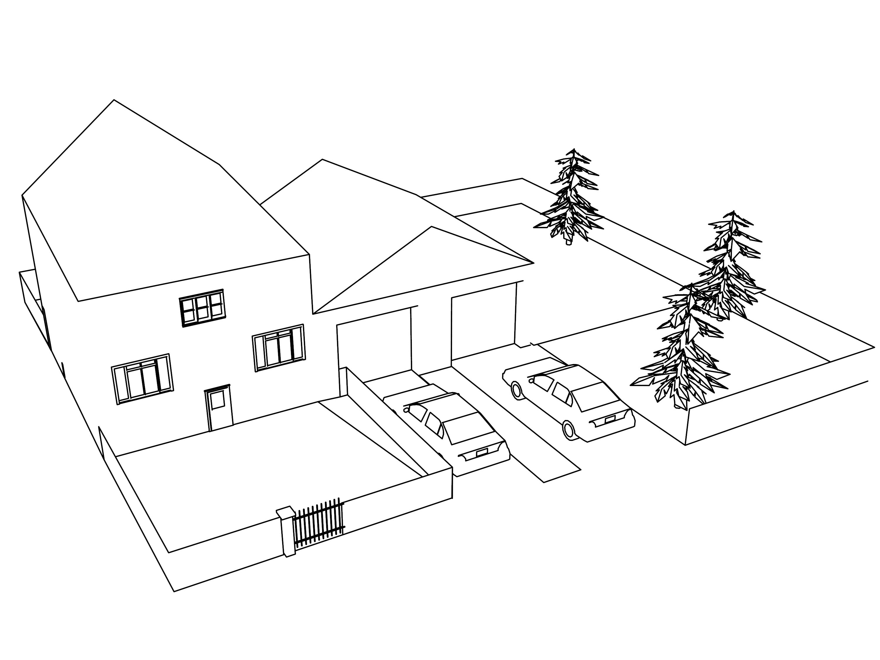 House Home Coloring Pages