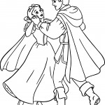 snow white and the prince coloring page