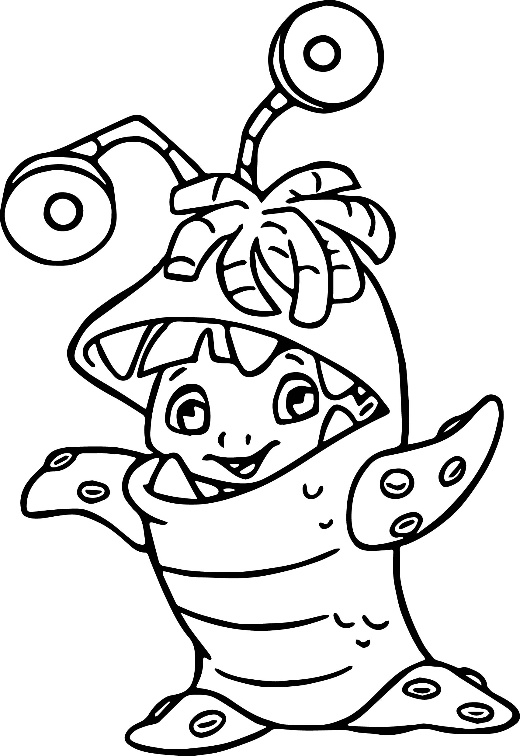 Disney monsters inc coloring pages for Monster coloring pages