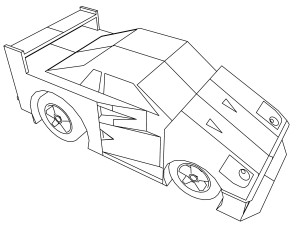 cartoon ferrari f40 coloring page