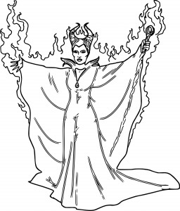 disney maleficent burn coloring pages