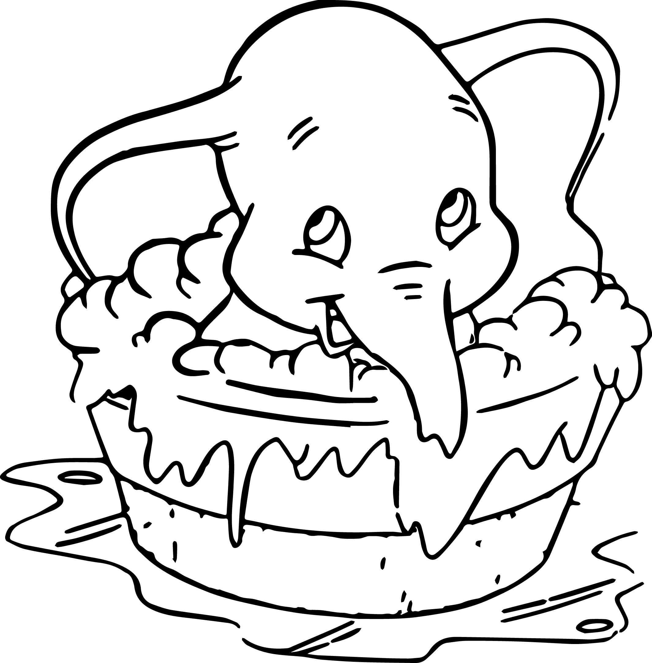 disney dumbo elephant coloring pages - Dumbo Elephant Coloring Pages