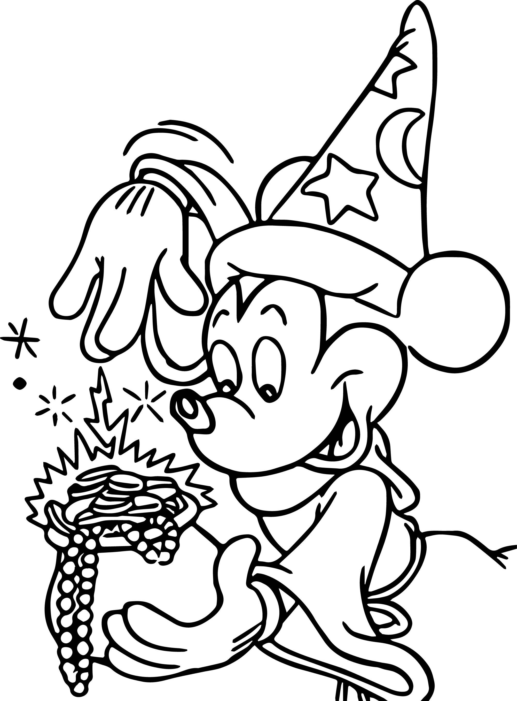 Disney fantasia coloring pages for Mickey coloring pages