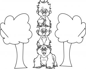 miscellaneous tarzan three monkey coloring pages