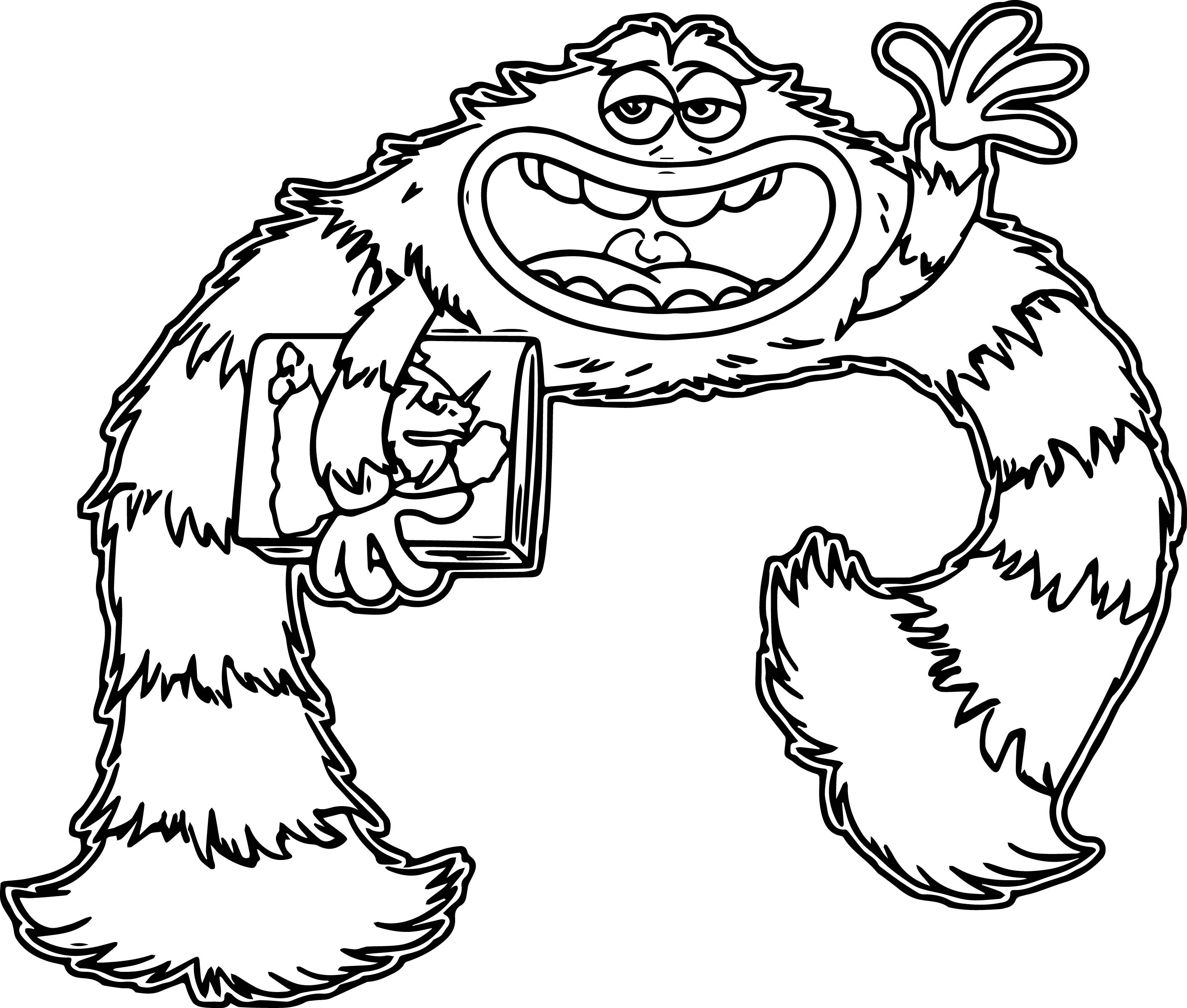 monster university coloring pages wecoloringpage