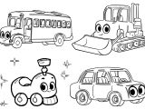 mophle my cute cars and vehicle all in one a4 free and printable coloring page