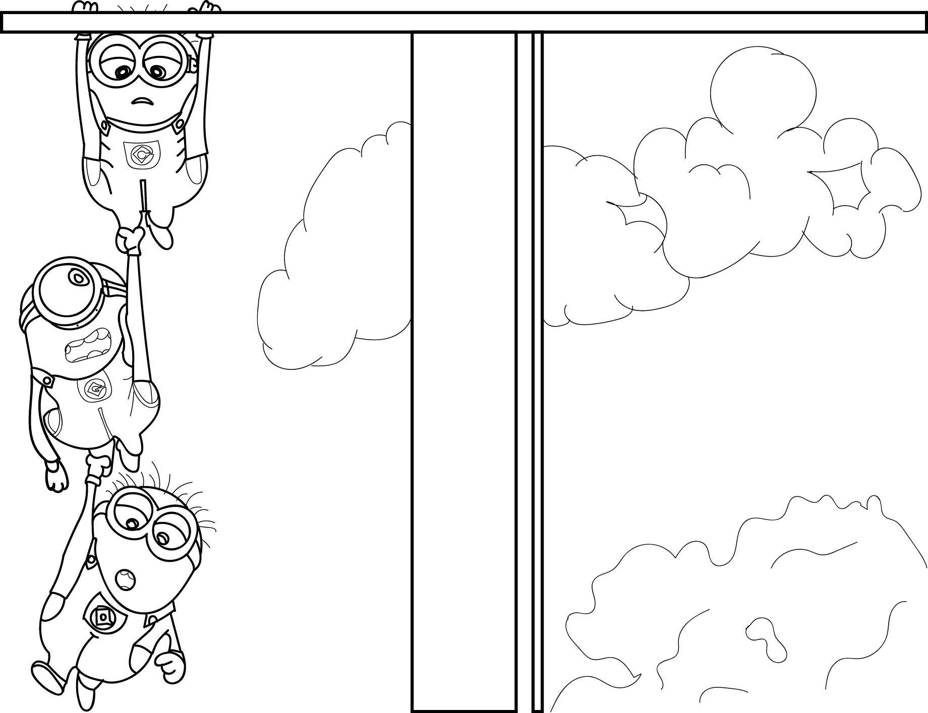 2013 Despicable Me 2 Minions Coloring Page