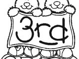 3rd grade bear coloring page