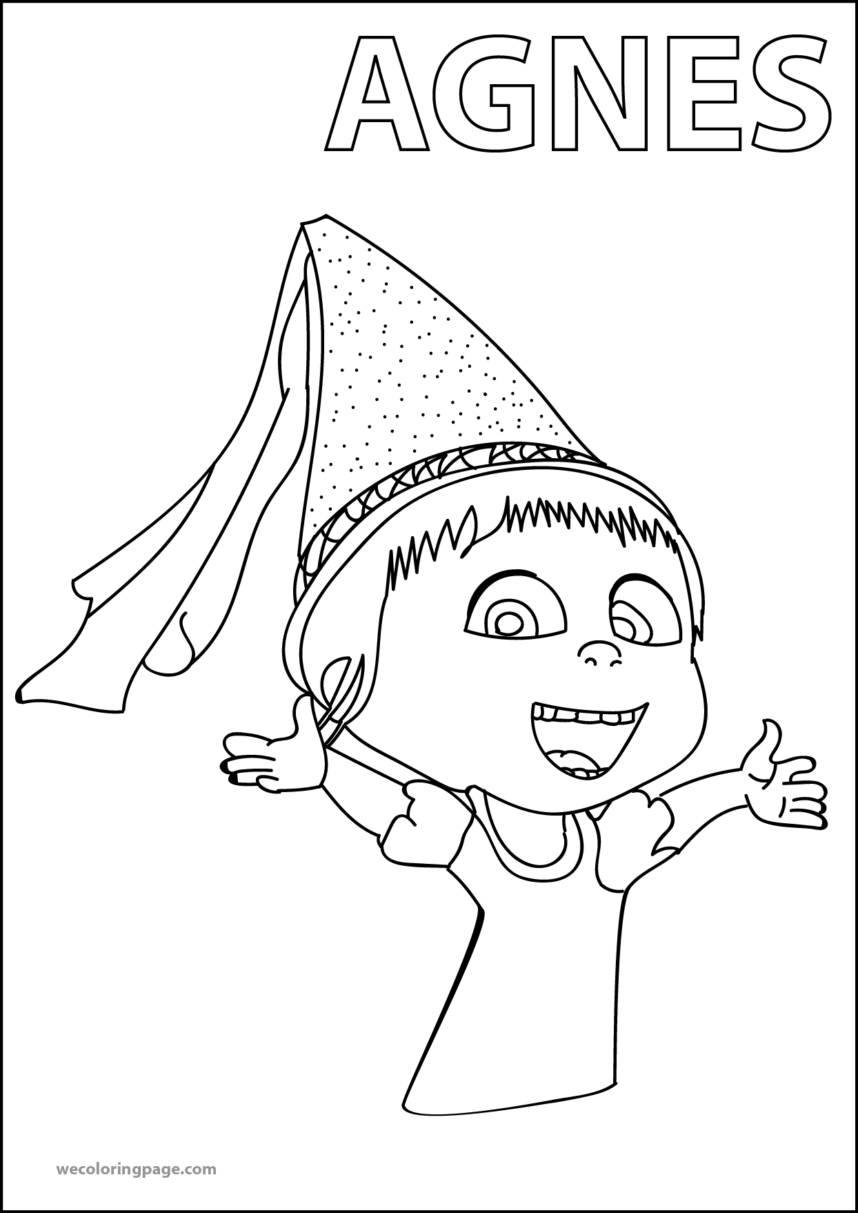 Agnes Despicable Me 2 Happy Coloring Page