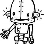 Ampule Cartoon Robot Coloring Page