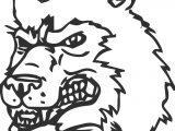 Angry Husky Dog Coloring Page