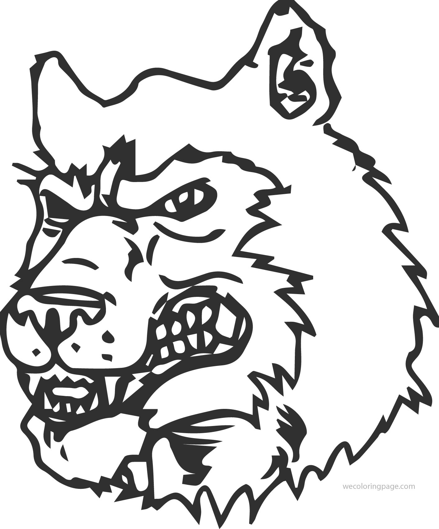 angry husky dog coloring page - Husky Coloring Pages