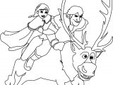 Anna Kristoff And Sven Coloring Page
