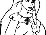 Ariel Princess Sad Coloring Page