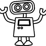 Basic Cute Robot Coloring Page