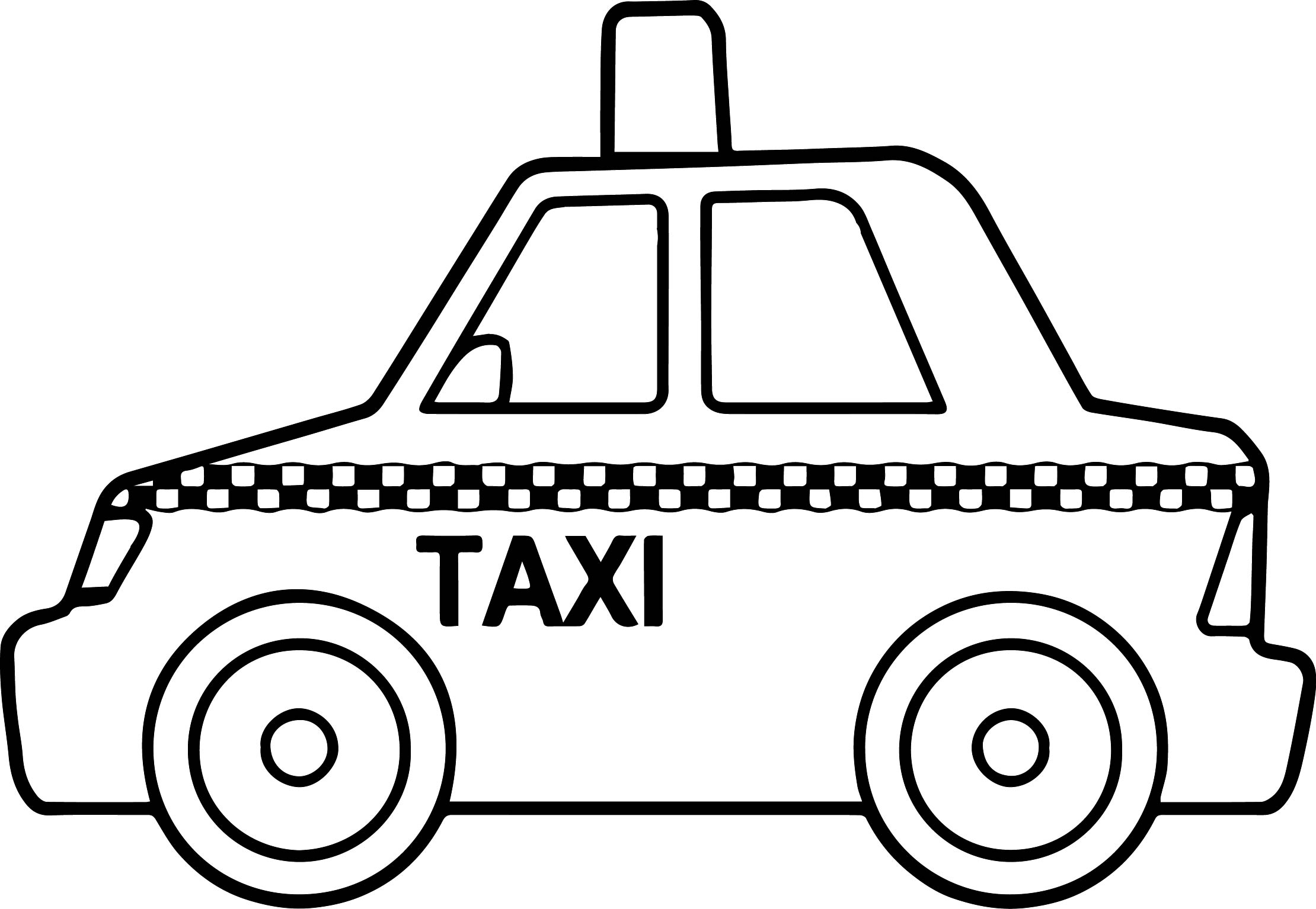 basic taxi toy car coloring page wecoloringpage