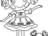 beautiful lalaloopsy coloring page