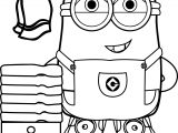 best funny minions make bath coloring page