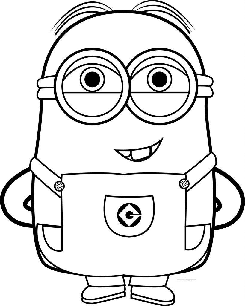 Minions coloring pages peace minion ~ Best Funny Minions Quotes And Picture Coloring Page ...