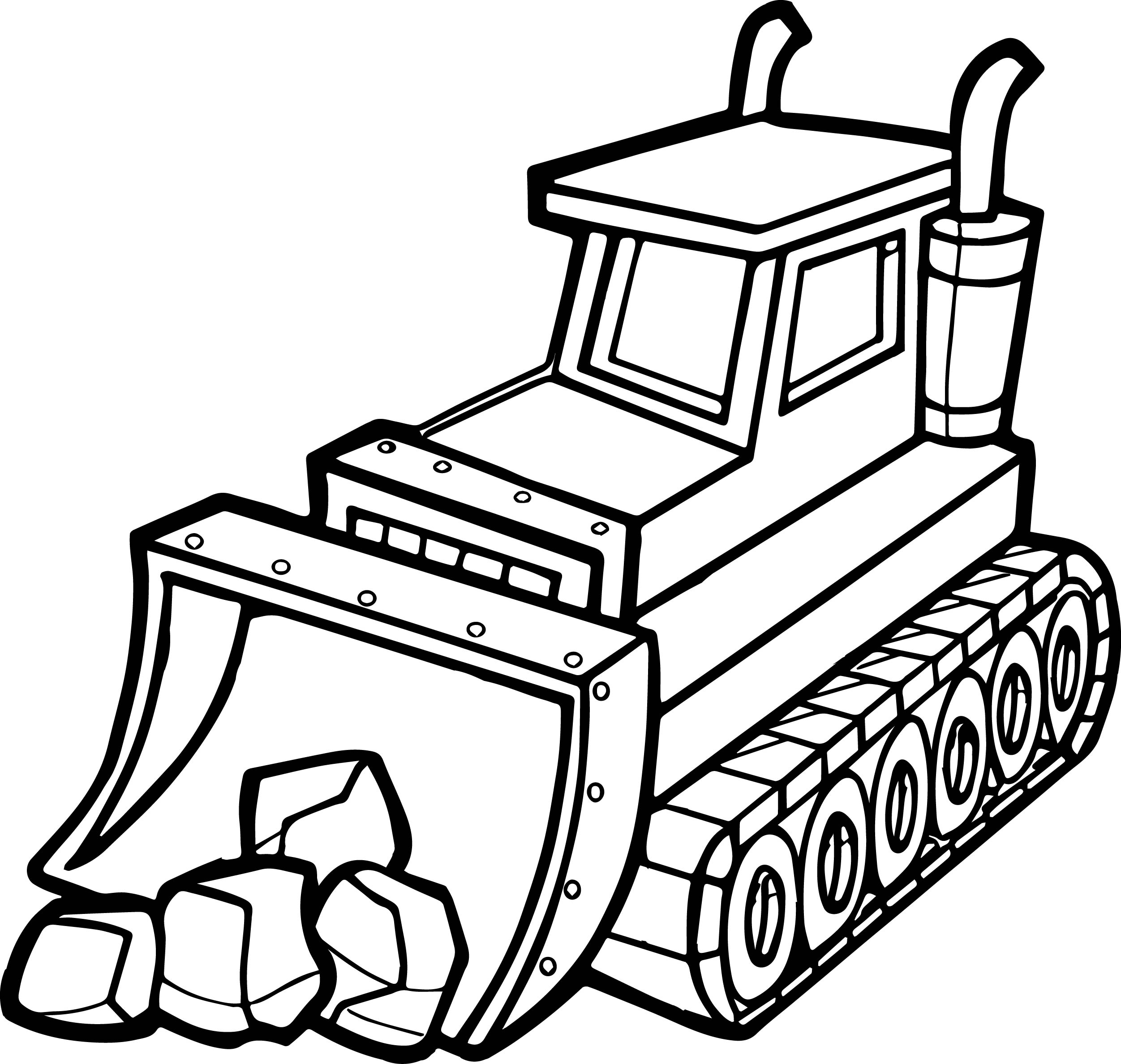 Best Stone Shovel Bulldozer Coloring Page Wecoloringpage