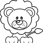 Calm Lion Coloring Page