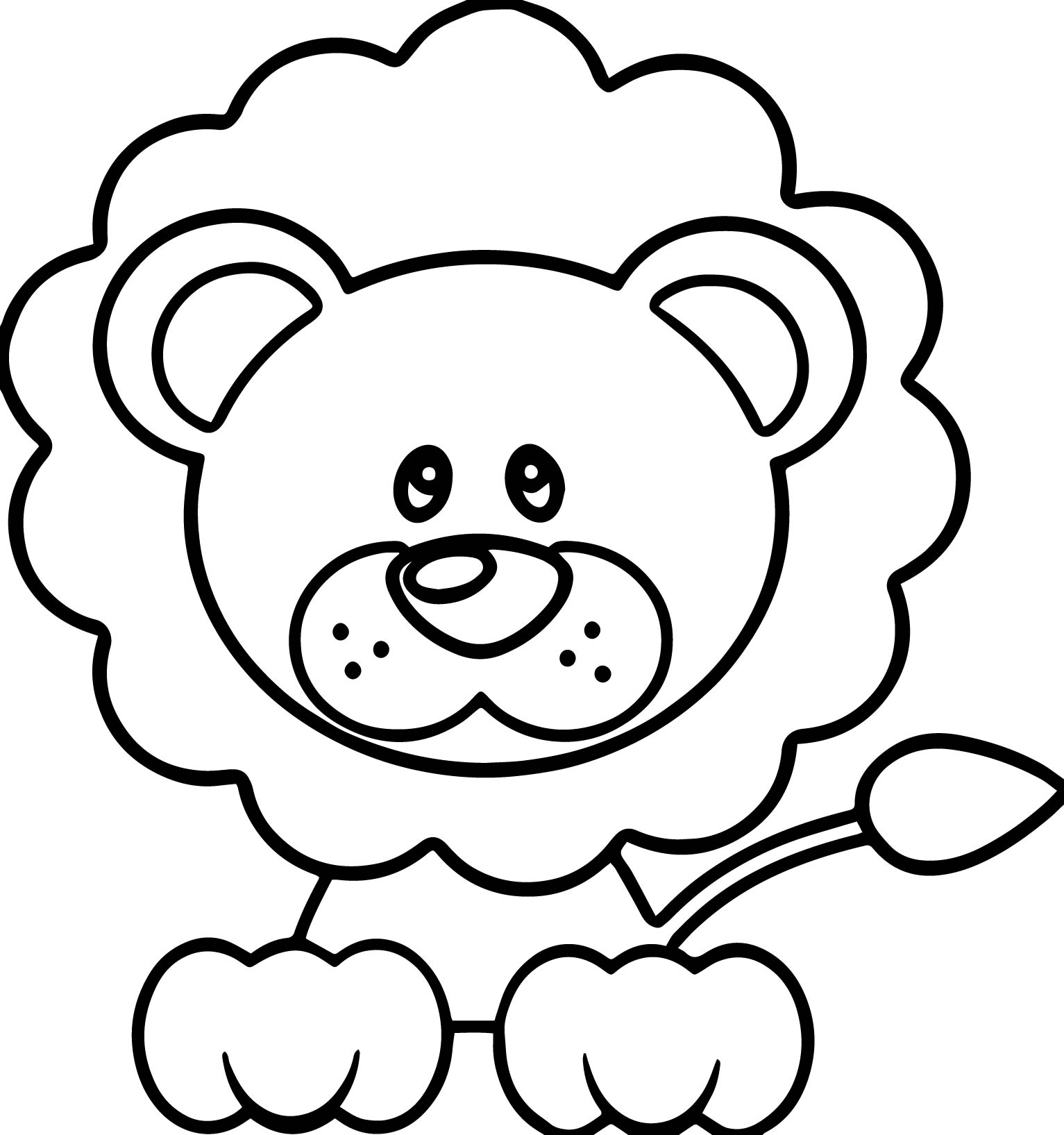 Calm Lion Coloring Page