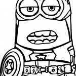 Captain Minion Coloring Page