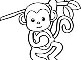 cartoon animals kids monkey coloring page