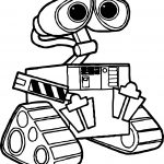 Cartoon Wall E Coloring Page