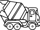 Cement Truck Coloring Page