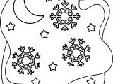 christmas night winter coloring page