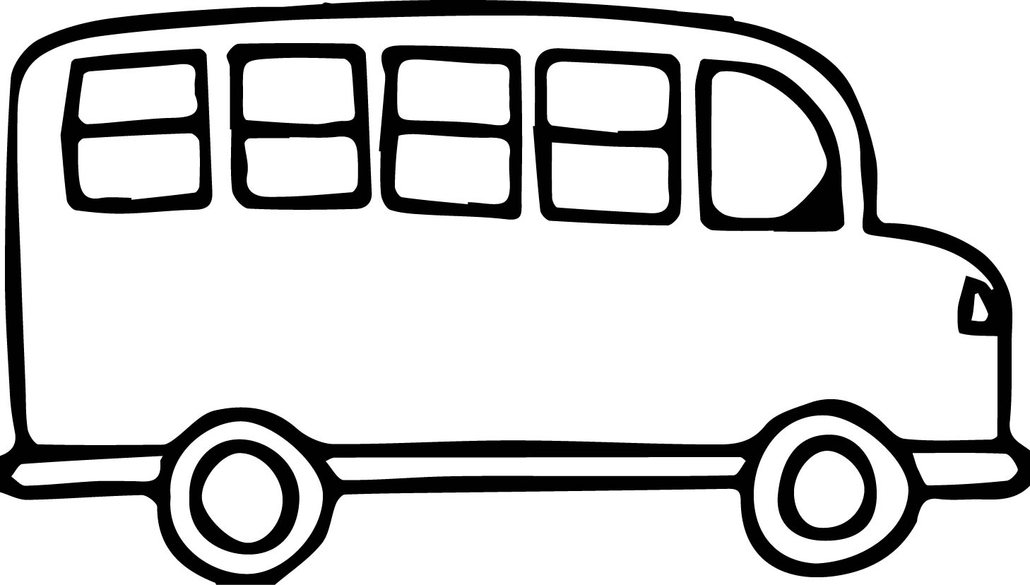 church van black and white transportation bus coloring page