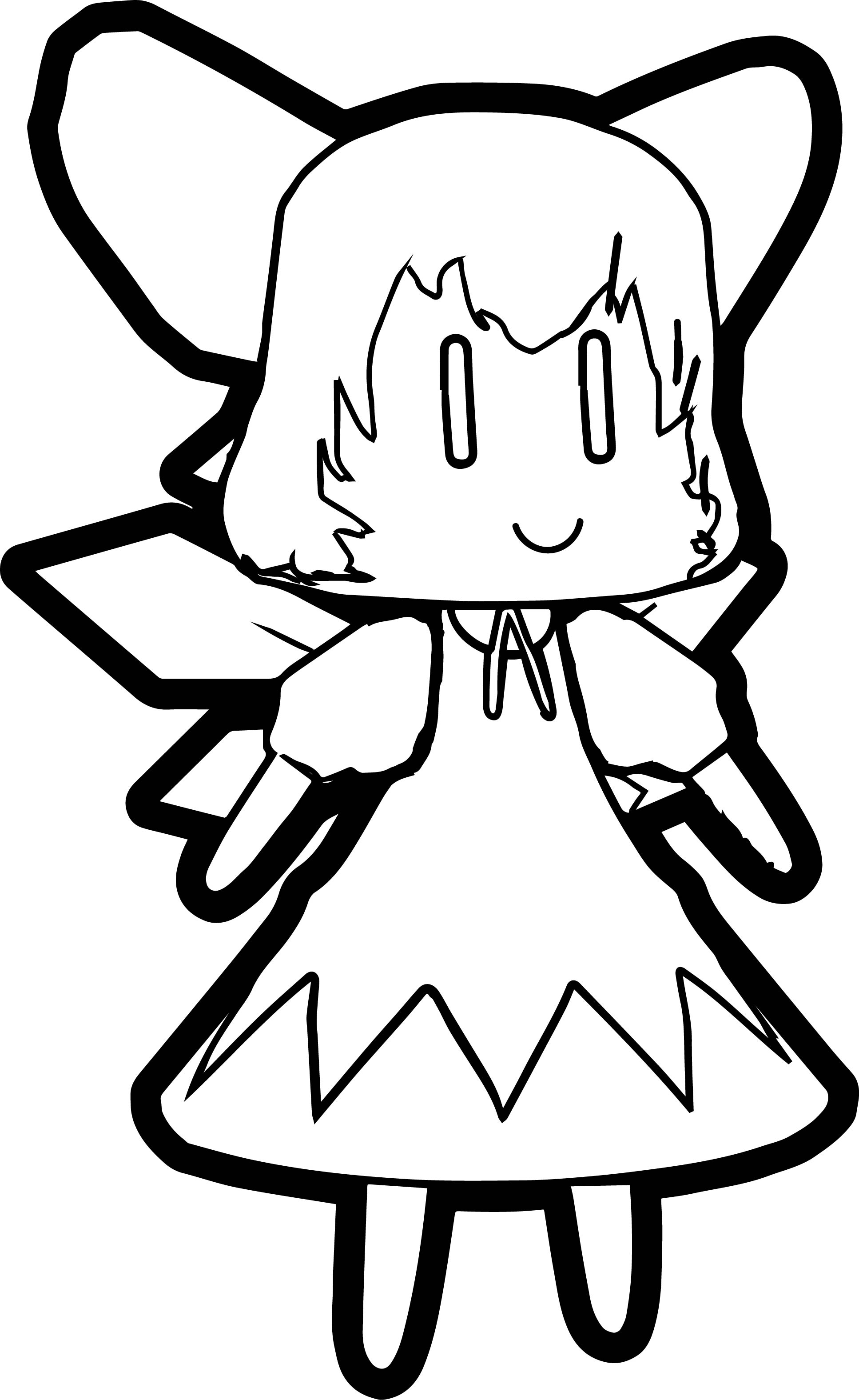 Cirno Manga Cartoon Character Coloring Page