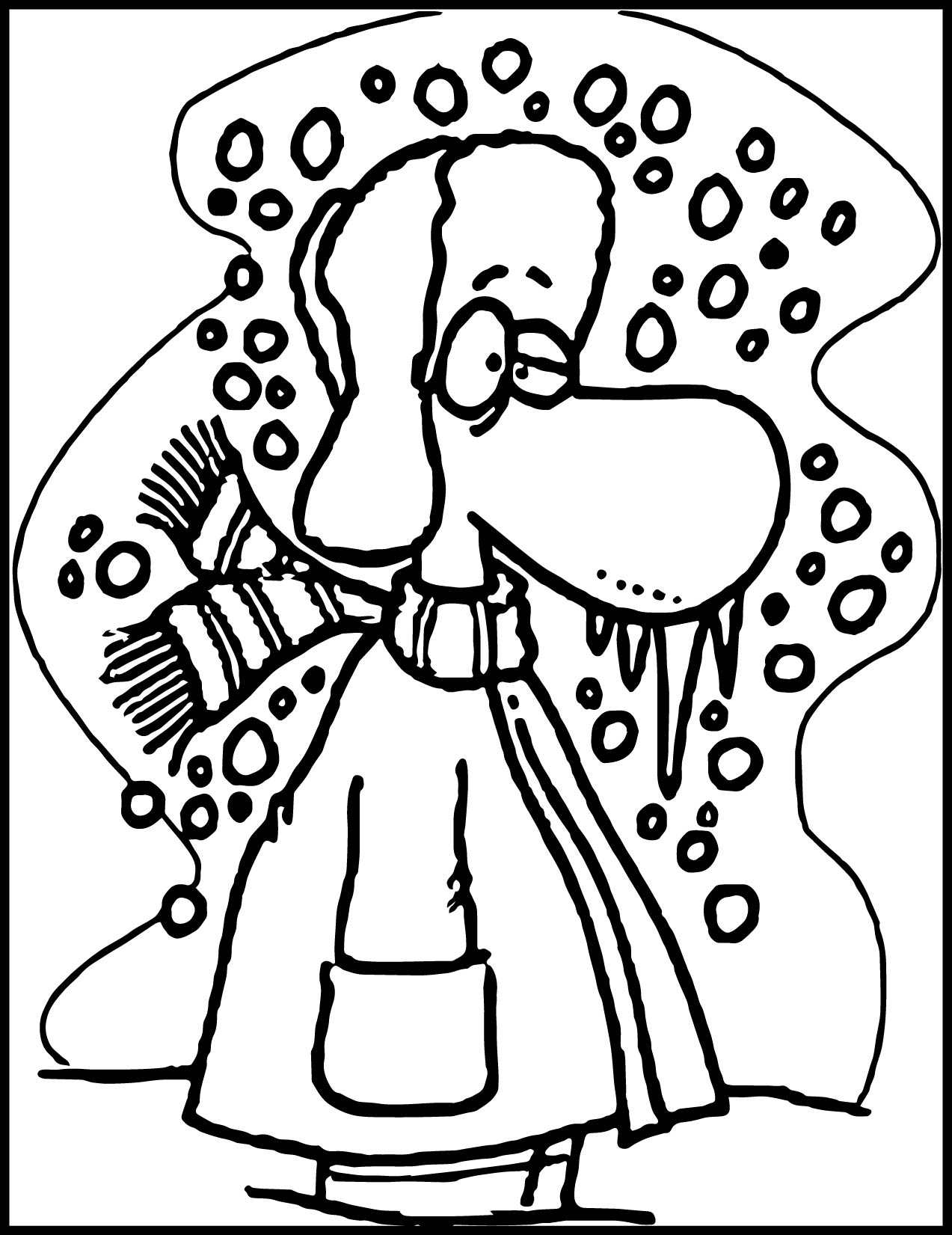 Cold Man Winter Coloring Page