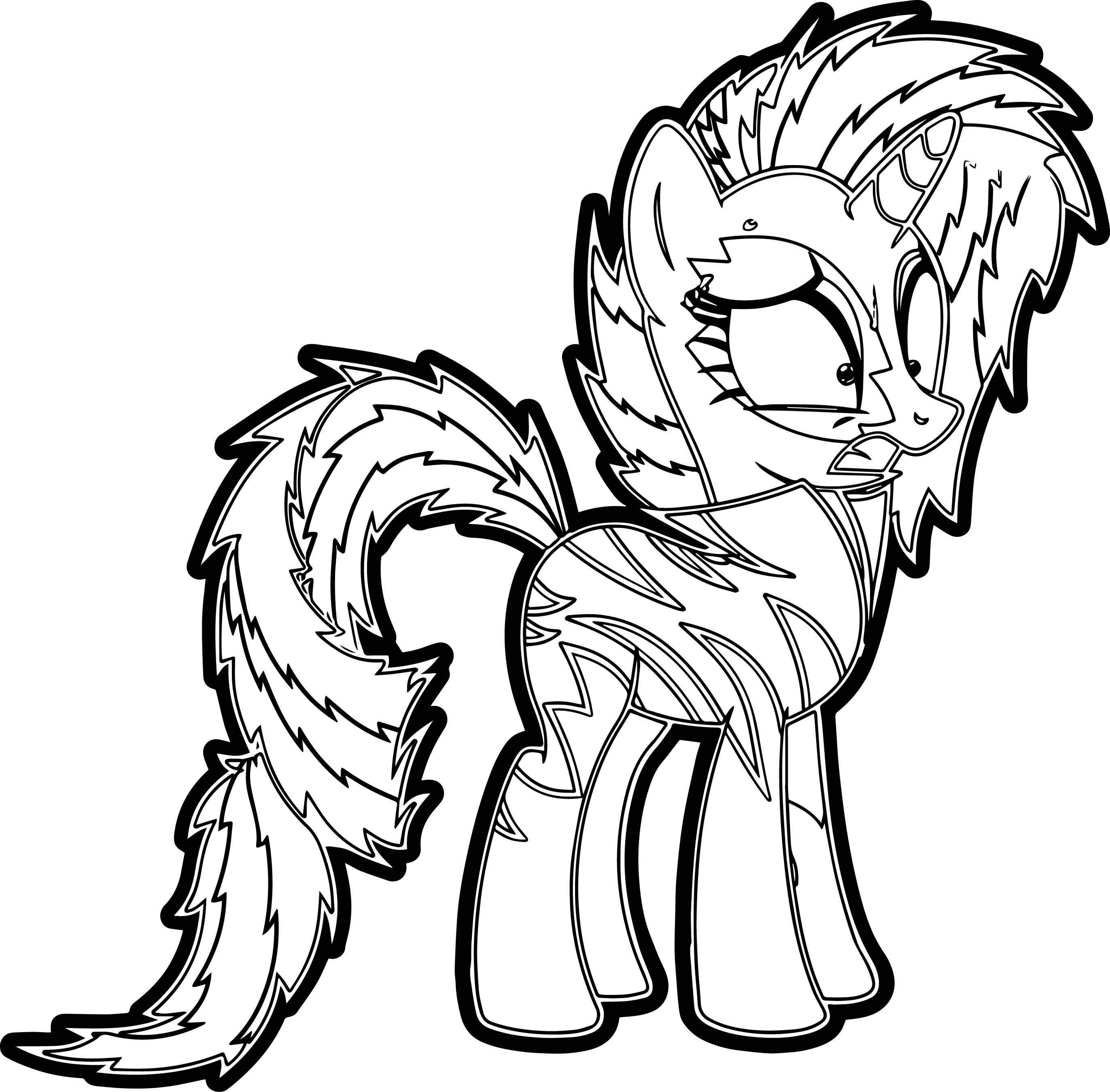 Crazy My Little Pony Coloring Page