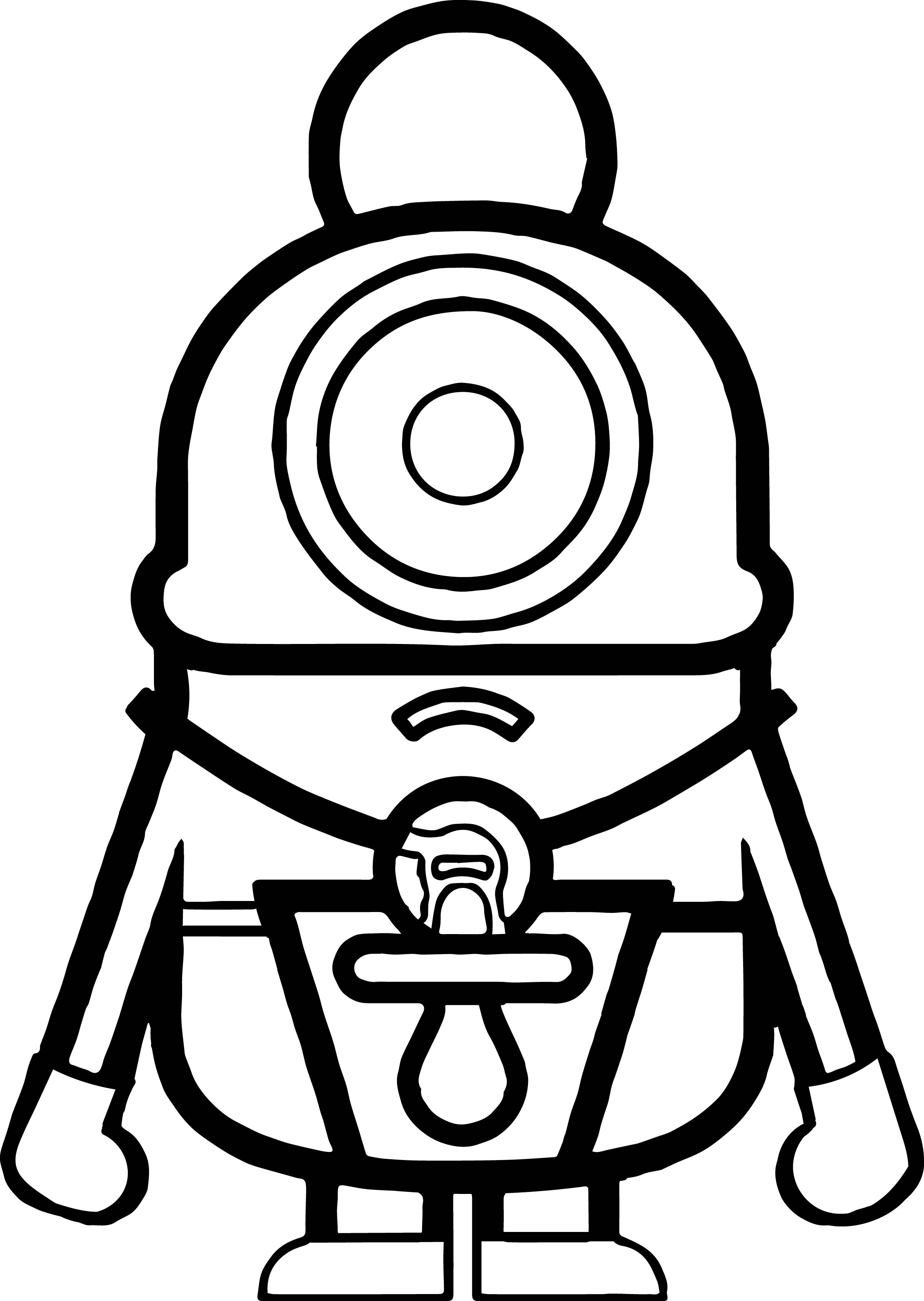 Cute Baby Minion Coloring Page
