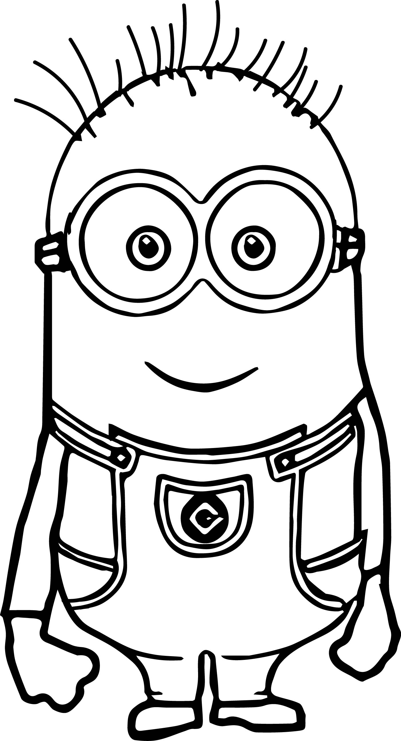cute basic minion coloring page - Minion Coloring Pages