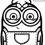 Cute Bob And Bear Minions Coloring Page