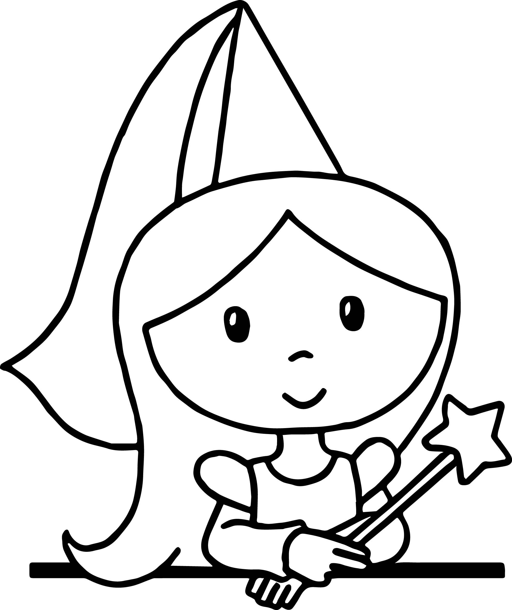 Cute Cartoon Princess Standing Coloring Page
