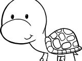 Cute Free Tortoise Turtle Coloring Page