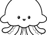 Cute Jellyfish Coloring Page