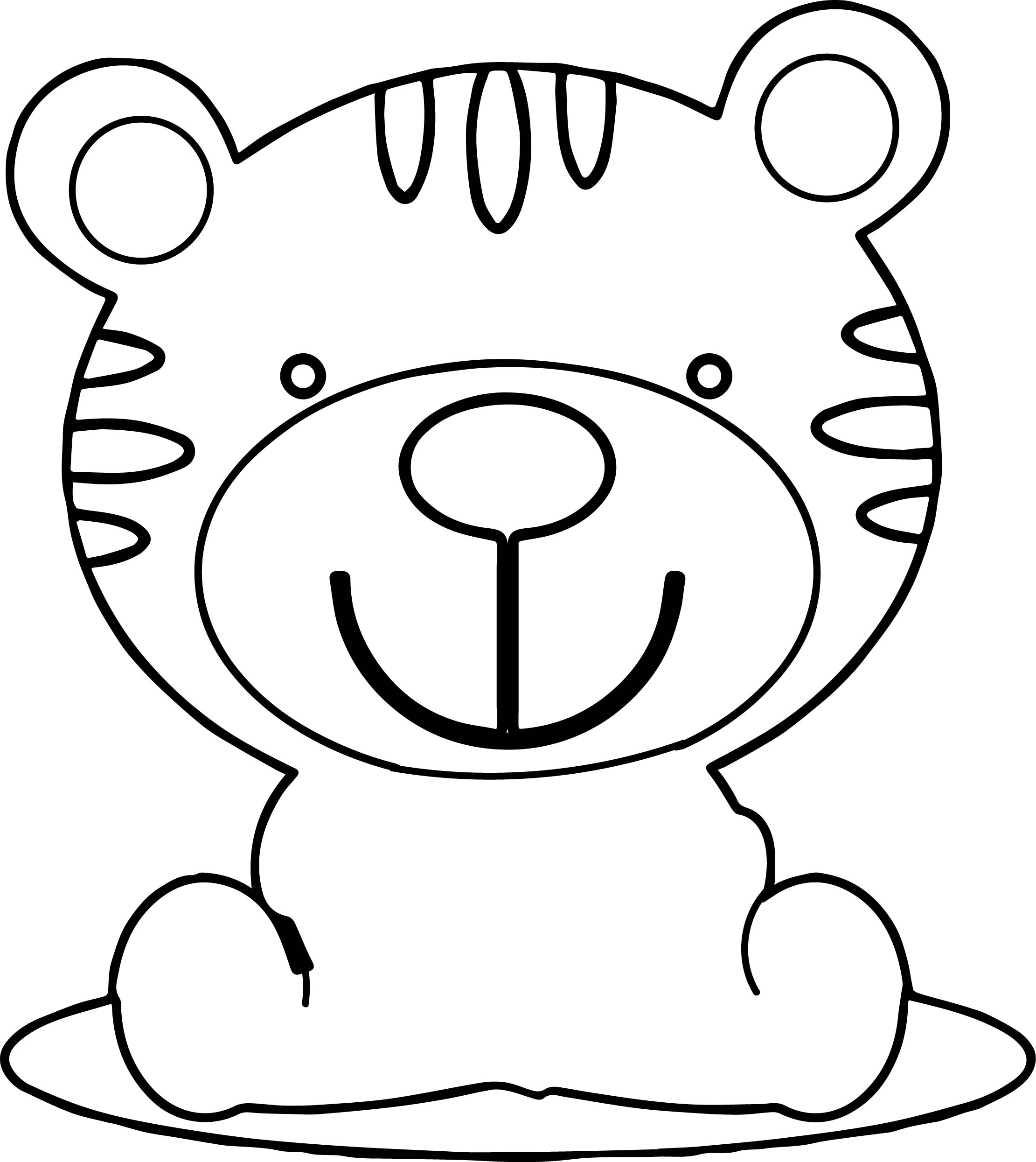 Cute Kid Tiger Coloring Page