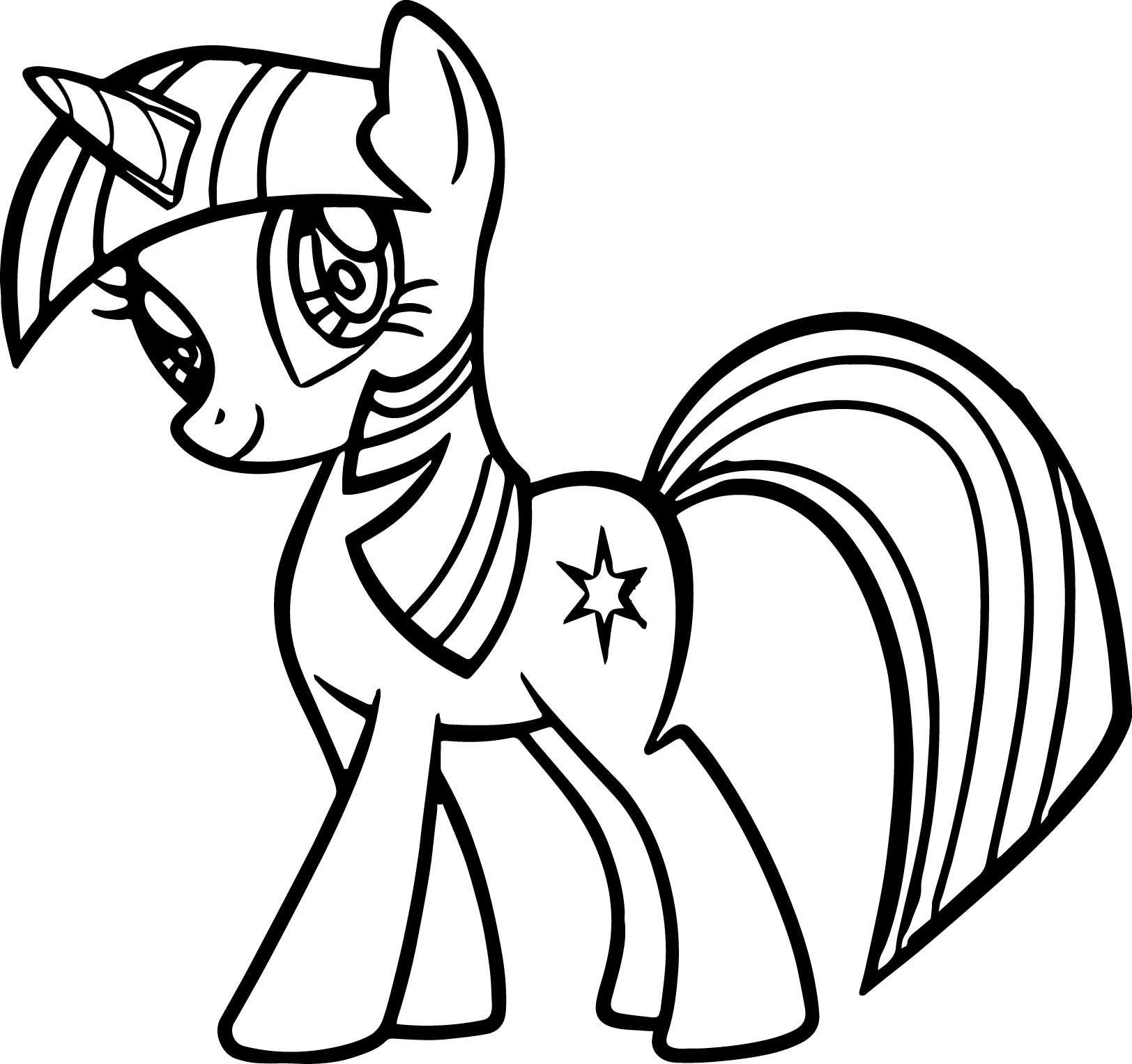 cute my little pony coloring page wecoloringpage
